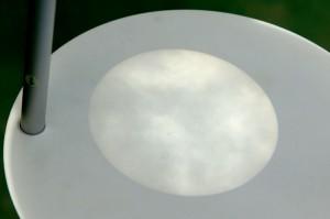 望遠鏡で投影された太陽