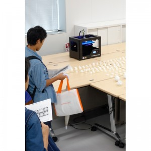 3Dプリンタを用いた多面体作成の実演