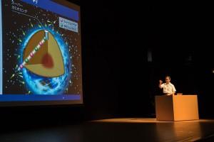 ニュートリノ振動の観測についての説明図