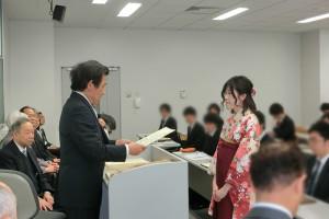 表彰と卒業証書の授与